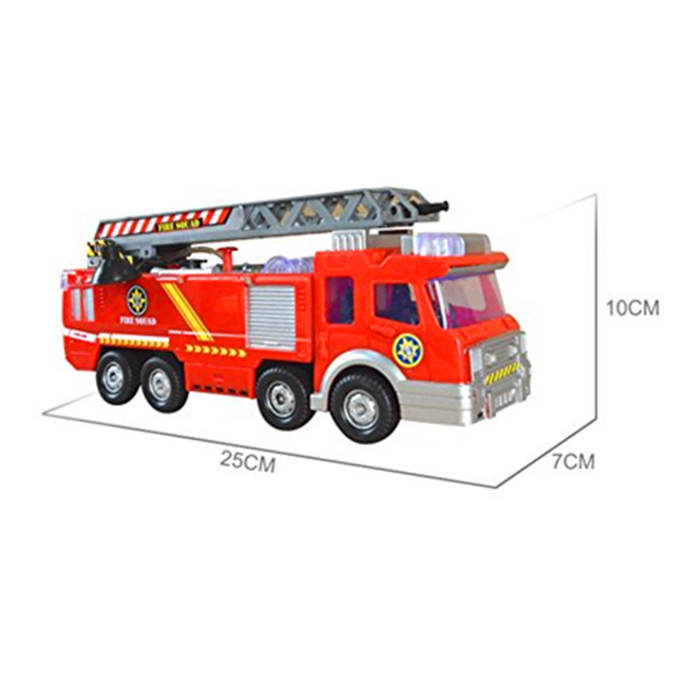 Appealing Storage Bench Fire Truck Toy Target Omnibearing Swiveling Tube Electric Fire Truck Toy Box Package X Simulation Fire Truck Toy Simulation Fire Truck Model baby Fire Truck Toy