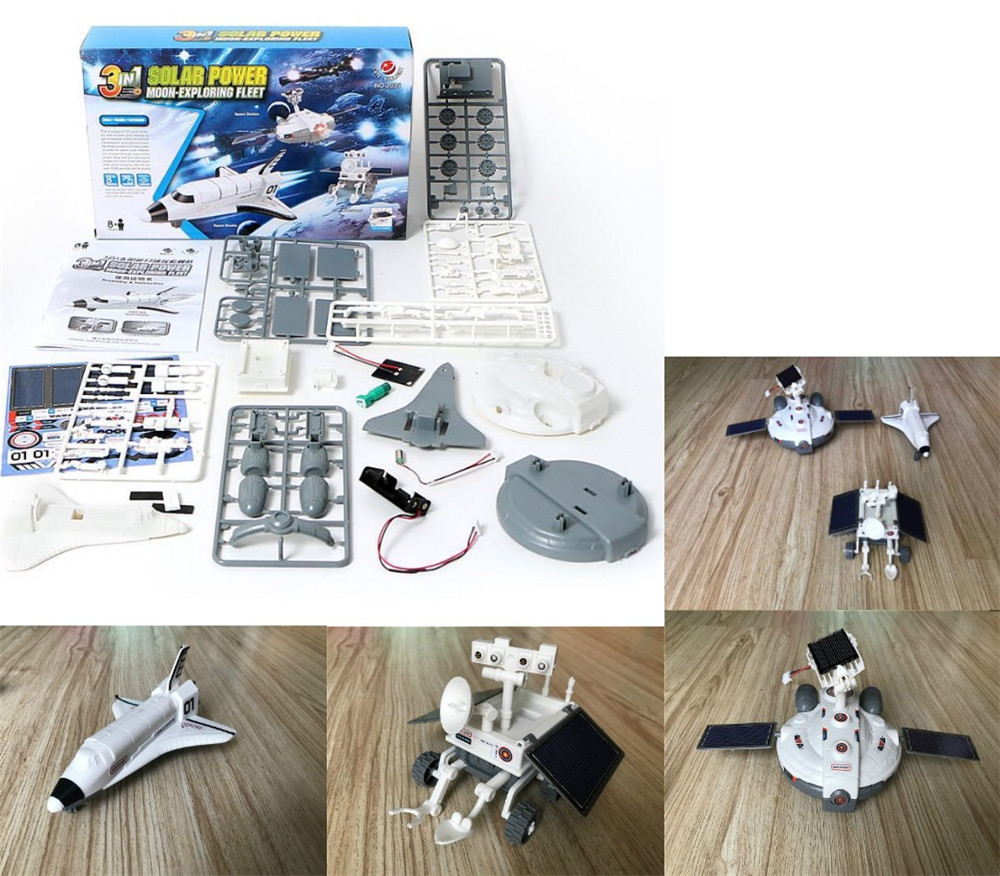 Moon Buggy Diy 3 In 1 Puzzle Education Smart Children Toy Diy Robots Science Space Moon