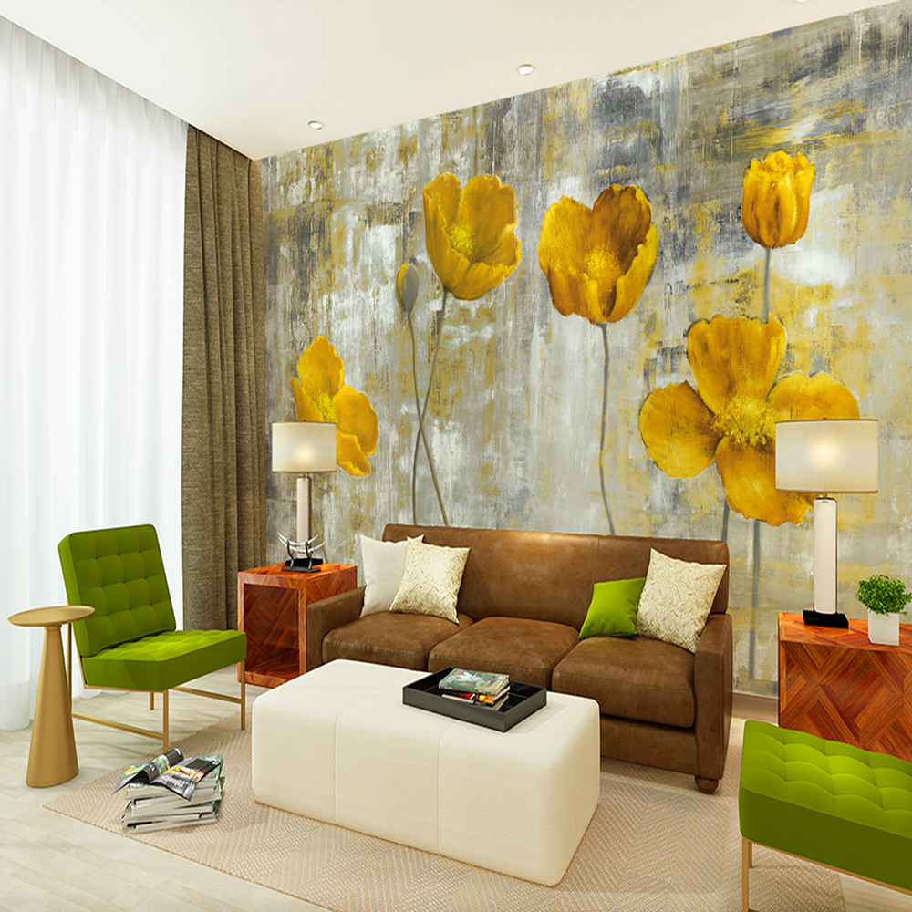 Decoration Art Deco Hand Painted Yellow Flower Floral Art Deco 3d Home Decoration Gearbest Mobile