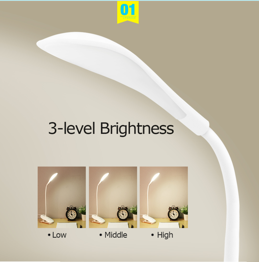 Clip On Bed Lamp Usb Led Table Lamp 14led With Clip Bed Reading Book Night Light Touch 3 Modes