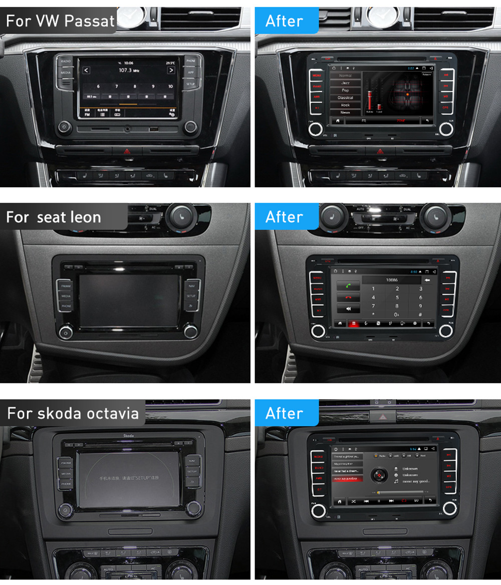 Seat Leon 2 Din Adapter Junsun 2531 A 7 Inch 2 Din Android Car Dvd Radio Player For Vw Golf Passat Polo Tiguan Skoda Fabia Rapid Seat Leon Gps 3g Wifi Auto