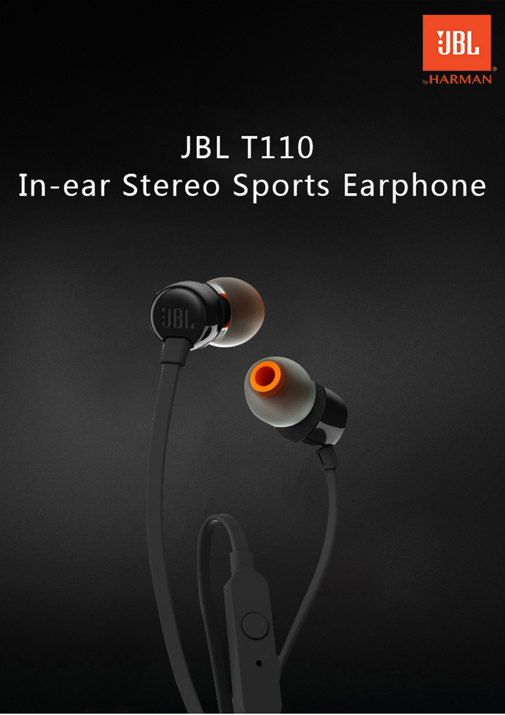 Jbl Bass Jbl T110 In Ear Stereo Sports Earphone Hifi Bass Earbuds