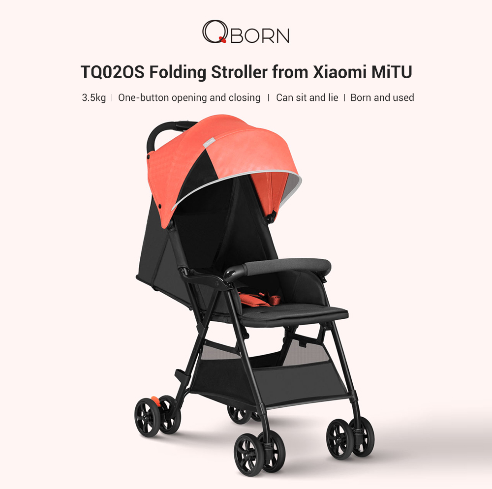 Lightweight Folding Pram Qborn Tq02os Lightweight Folding Baby Stroller From Xiaomi Youpin
