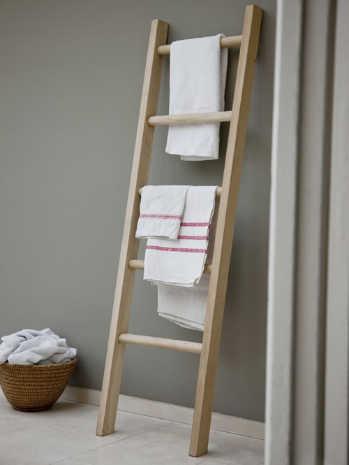 Badezimmer Traps Store | Solid Oak Towel Ladder