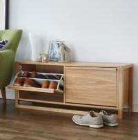 STORE | NewEst Shoe Storage Bench - Oak