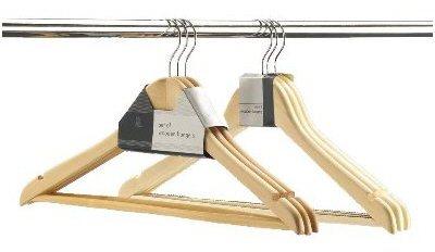 Store Set Of 3 Wooden Hangers