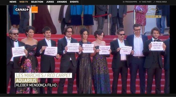 Cannes: tapete vermelho contra o golpe do impeachment