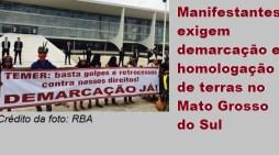 Indígenas protestam em Brasília contra retrocessos de Temer