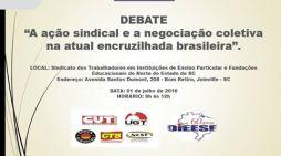 Debate: A ação sindical e a negociação coletiva na atual encruzilhada brasileira