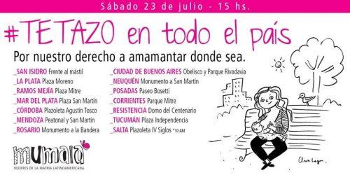 Argentina: Convocam tetaço em repúdio a duas policiais que impediram mãe de amamentar