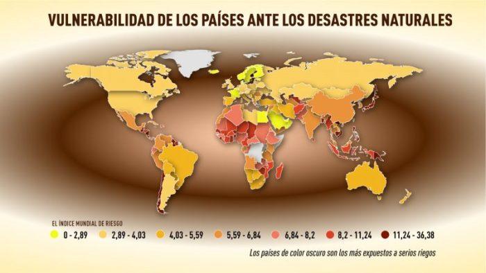 O mapa dos desastres naturais