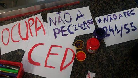 Nota da OCUPA CED frente aos ataques à educação e aos demais direitos da classe trabalhadora