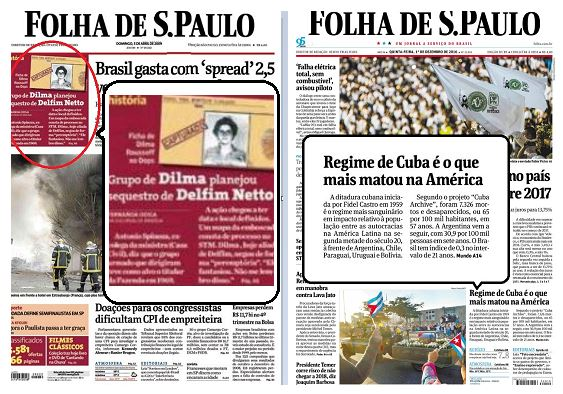 Folha engana leitor com pegadinha contra Cuba na primeira página