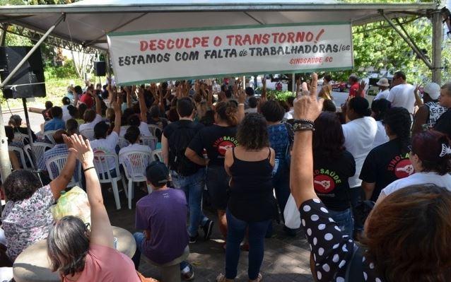 Trabalhadoras/es da saúde aprovam paralisações em SC contra o desmonte da Previdência
