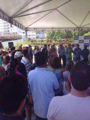 Relato do ato/piquenique por mais Parques e pela criação do Parque Cultural das 3 Pontas