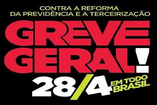 28 de abril – dia de parar o Brasil
