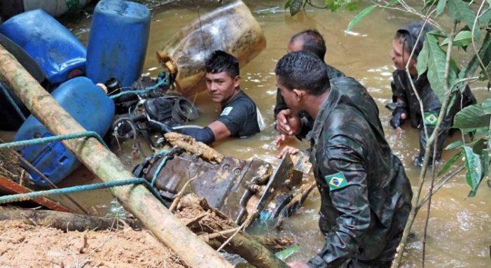 Operação Curaretinga combate garimpo ilegal de ouro na terra indígena Yanomami, em RR