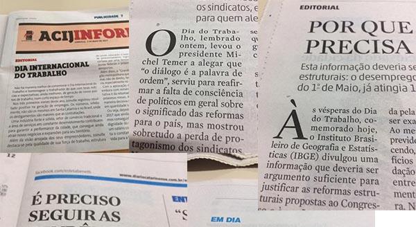 1º de maio: Para a mídia catarinense é o dia do quê?
