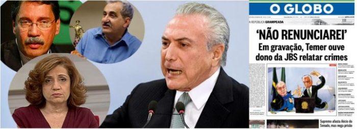 Globo desembarca e corta a cabeça de Temer