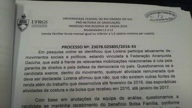 Estudante, cotista e militante é desligada da UFRGS por perseguição política