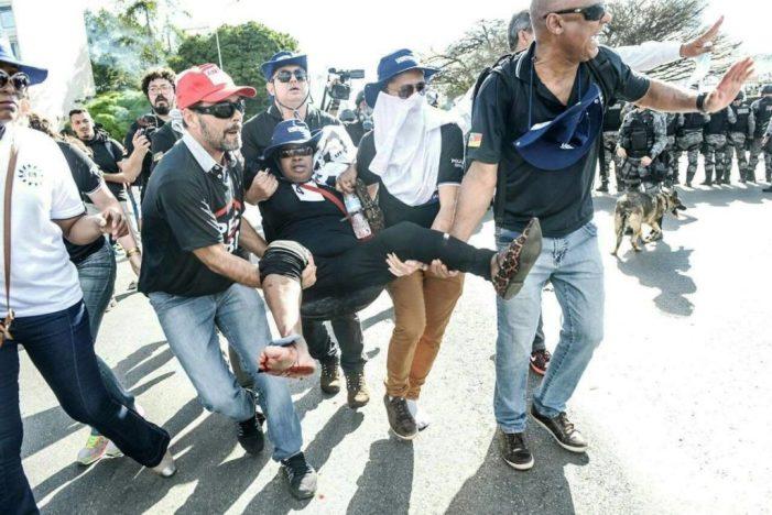 Policial Civil do RS é ferida pela PM em Brasília