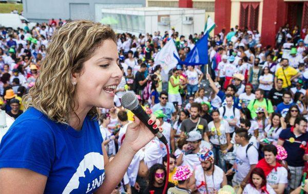 Em Belo Horizonte, UNE revive época da redemocratização e defende eleições diretas para substituir Temer (Foto: Carina Vitral)