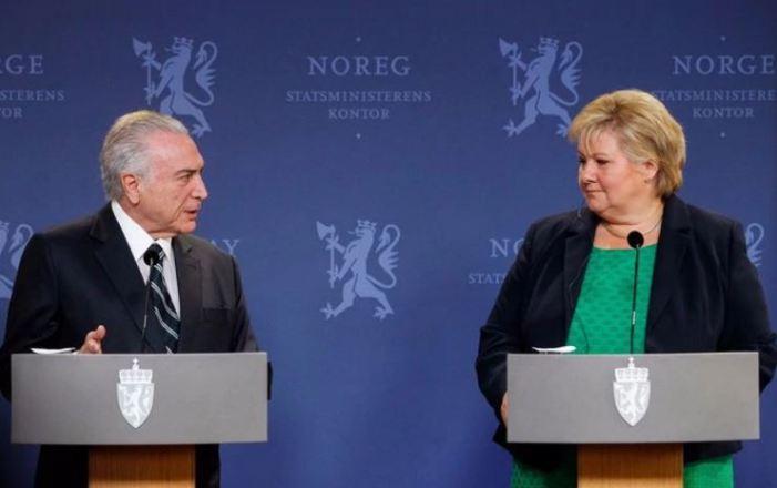 Temer comete gafe e encerra visita à Noruega agradecendo o povo da Suécia