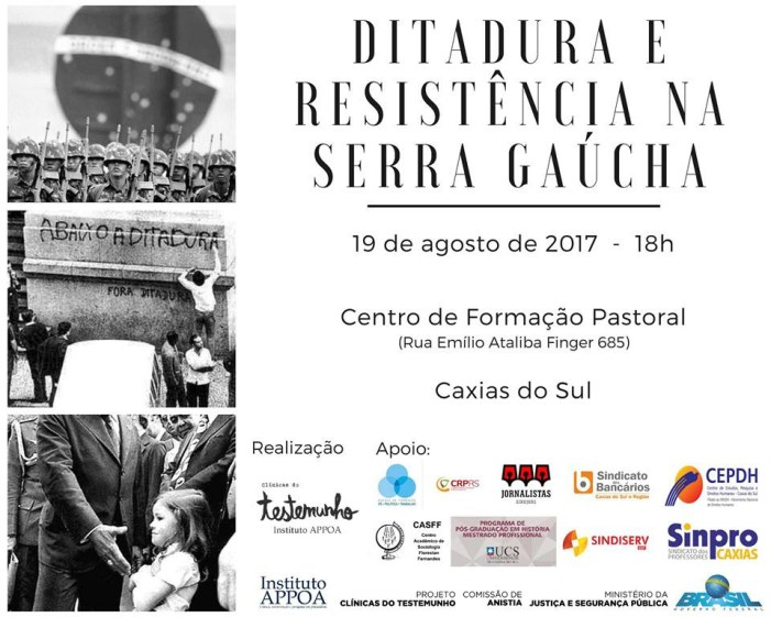 Conversa Pública em Caxias do Sul: Ditadura e Resistência na Serra Gaúcha