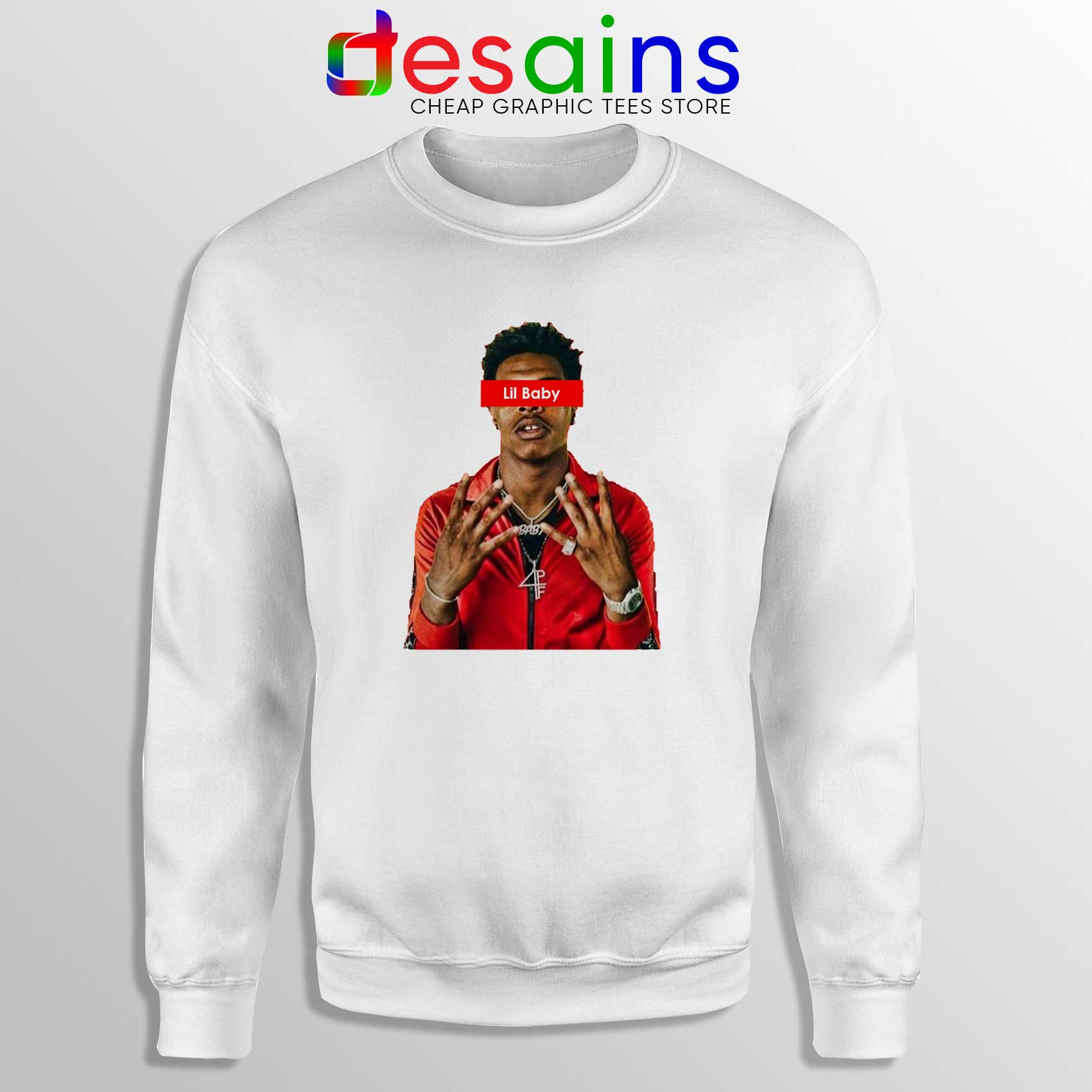 Supreme Sweater Buy Sweatshirt Lil Baby Supreme Crewneck Sweater American Rapper