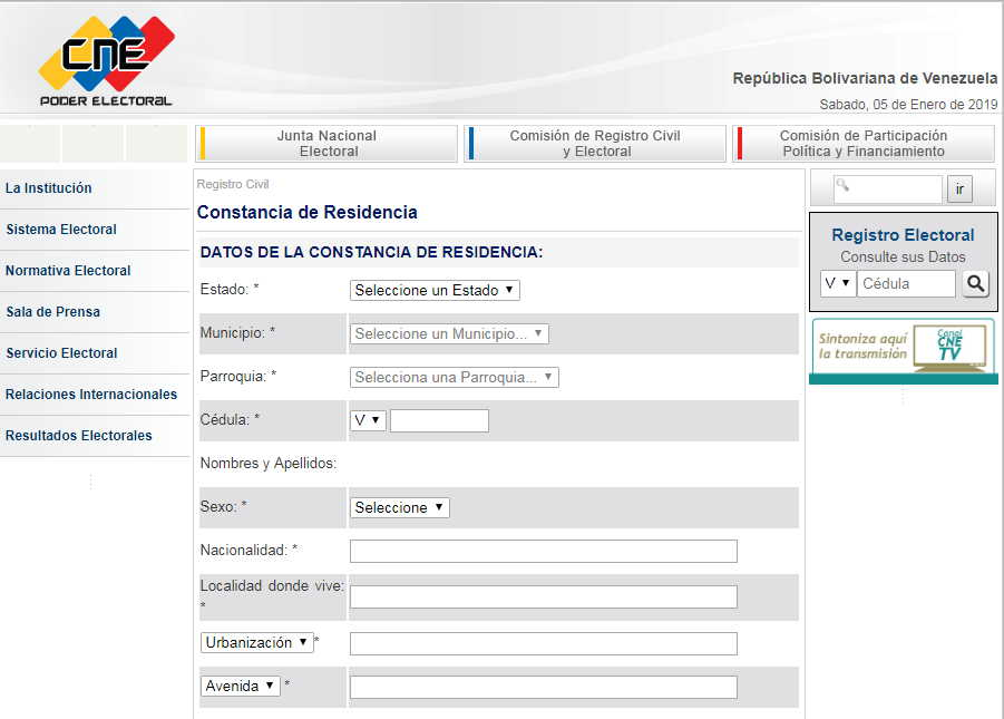 ᐅ Descarga la Planilla Carta de Constancia de Residencia del 【 CNE 】