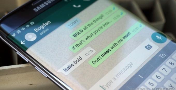Como utilizar las negritas, las cursivas y el tachado en WhatsApp