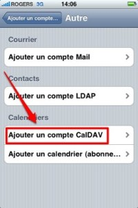 yahoo agenda 2 Synchronisation sans fil dYahoo Agenda avec un iPhone