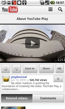 youtube android 2 YouTube dvoile une version mobile extrmement intressante 