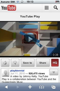 youtube iphone YouTube dvoile une version mobile extrmement intressante 