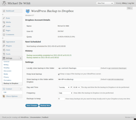 wordpress backup dropbox Wordpress: sauvegardez votre blogue sur Dropbox