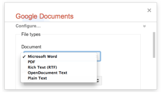 google takeout 1 Google Documents: exportez vos documents en utilisant Takeout