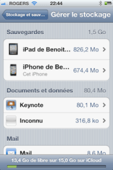 gerer stockage 3 iCloud iPhone   iPad: comment grer efficacement les 5 Gigas despace gratuit 