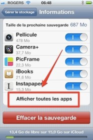 icloud afficher toutes les applications iCloud iPhone   iPad: comment grer efficacement les 5 Gigas despace gratuit 