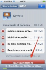 iclous supprimer doc1 iCloud iPhone   iPad: comment grer efficacement les 5 Gigas despace gratuit 