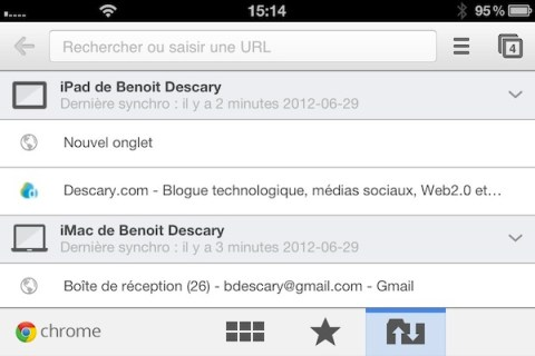 chrome iphone 3 Google Chrome pour iOS : un excellent navigateur Web pour votre iphone ou iPad