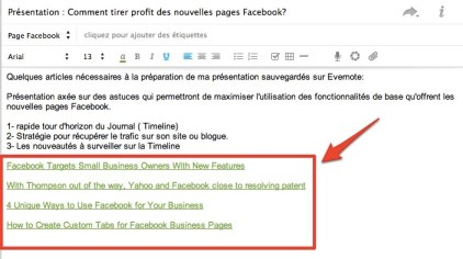 evernote notes liens Evernote: structurez vos notes en les liant les unes aux autres 