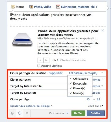 facebook ciblage publication Pages Facebook: de nouveaux critres de ciblage pour les publications de votre page