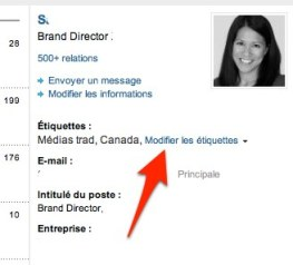 linkedin modifier etiquette Linkedin: comment utiliser les tiquettes pour grer vos relations