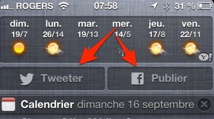 ios mise ajour facebook twitter depuis notifications iPhone   iPad iOS 6 : dix astuces 