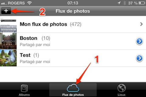 iphone ipad flux photos partager iPhone   iPad iOS 6 : dix astuces 