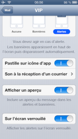 ios ipad iphone reglages iPhone   iPad ios6 : comment personnaliser les notifications de vos différents comptes mail