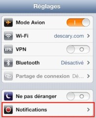 ios reglages notifications iPhone   iPad ios6 : comment personnaliser les notifications de vos différents comptes mail