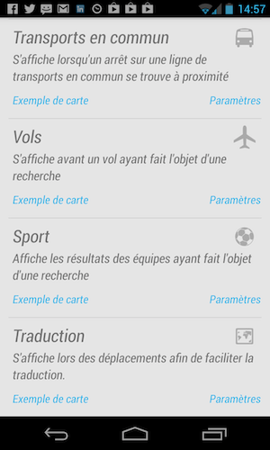 google now android descary Google Now ou l'ébauche d'un système de notification contextuel