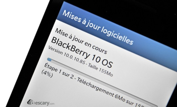blackberry mise a jour descaery BlackBerry pousse la premire mise  jour du BlackBerry 10