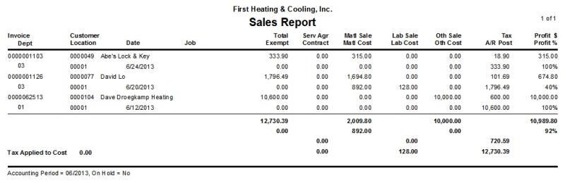 Sales Report \u2013 dESCO Support